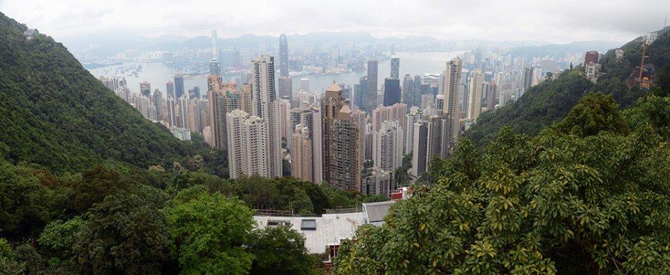 Panorama depuis le Peak Tram