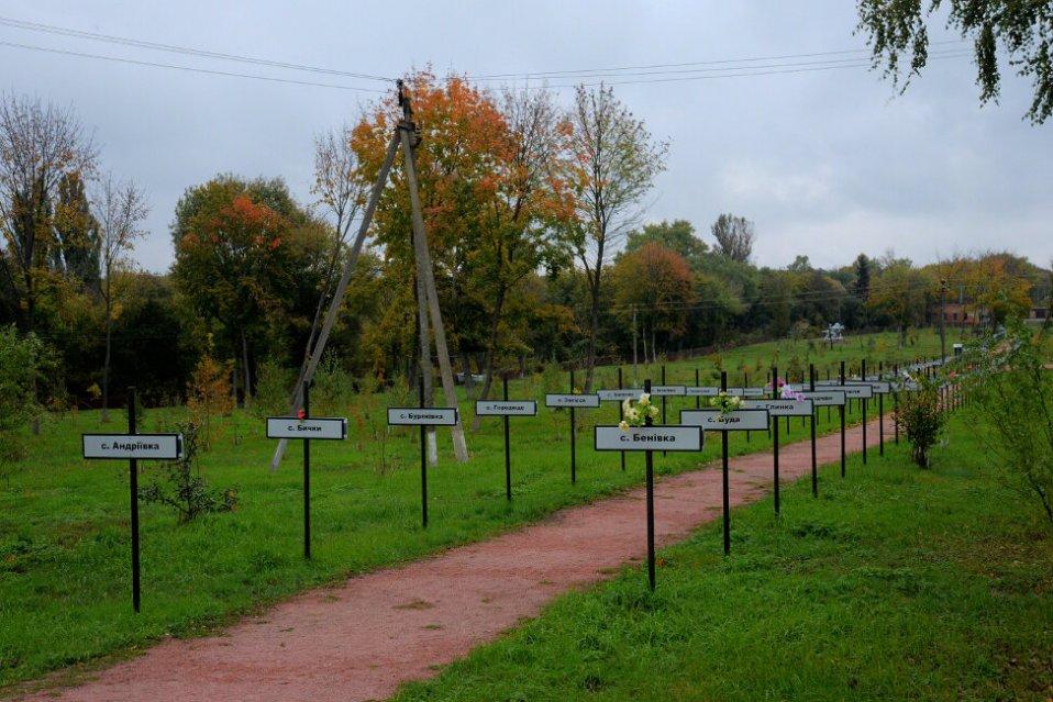 Les panneaux des villages abandonnés