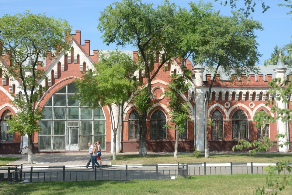 Blagovetchensk, anciennes halles de commerce