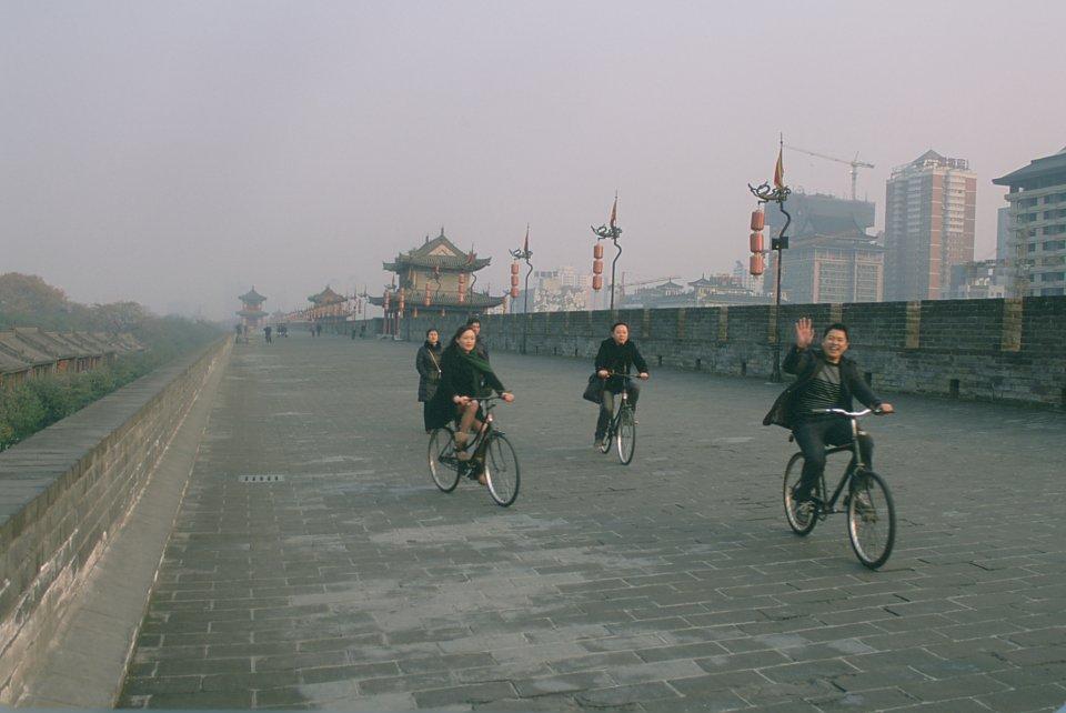 Vélo sur les murailles de Xi'An