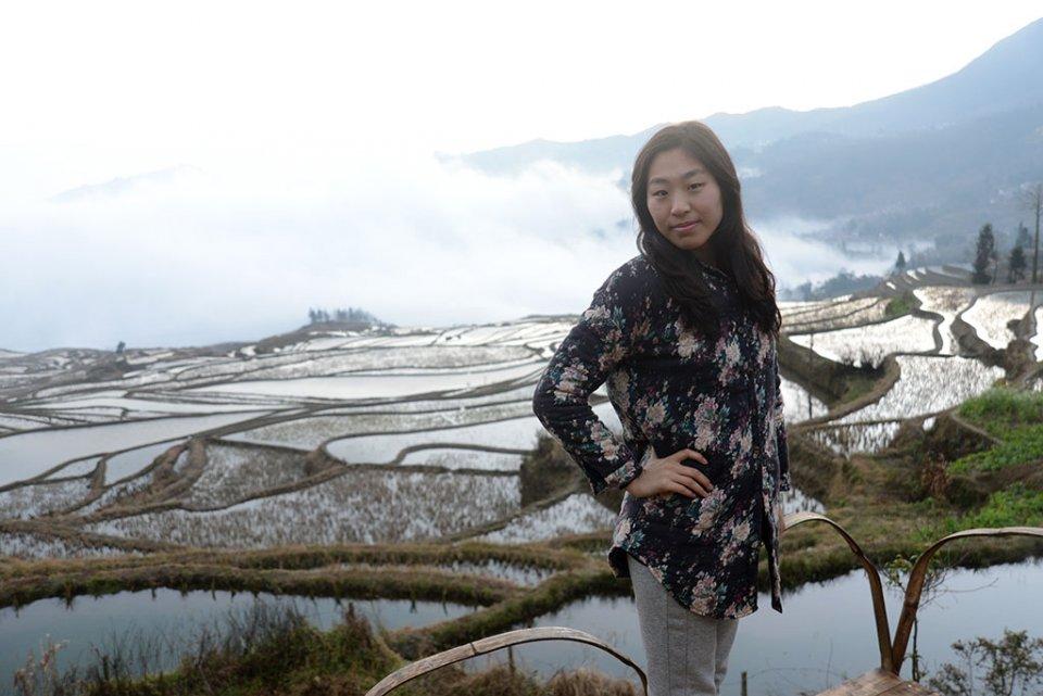 Lever de soleil sur les rizières